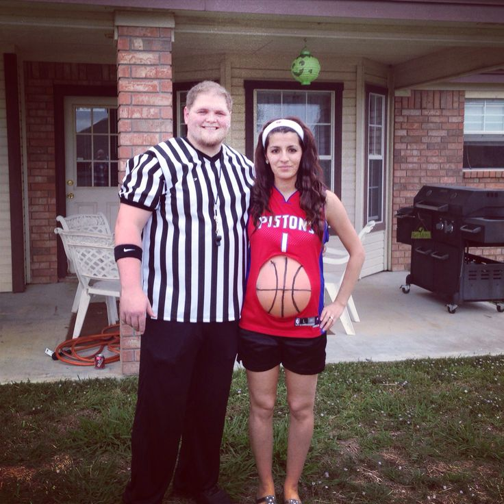 Couple Maternity Costumes Basketball Player And Referee