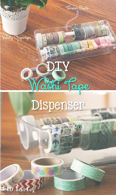 Washi tapes are so fun to decorate with but a collection can quickly need organization. This washi tape dispenser is the perfect solution. @diyjustcuz