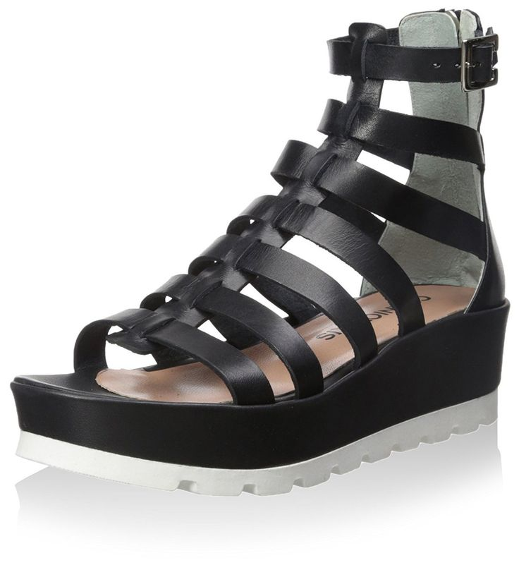 Chaniotakis Women's Gladiator Sandal, Black, 7 M US. 7 B(M) US. Black. Leather.