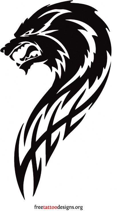 Angry wolf tribal