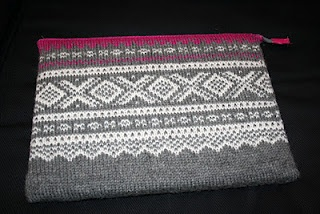 Knitted Bag for PC with Marius pattern