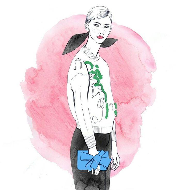#fashionillustration #fashion #illustration #delpozo #drawing
