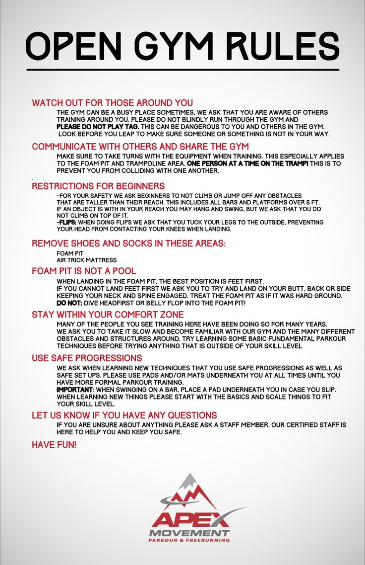 Rules and guidelines anything pinterest gym