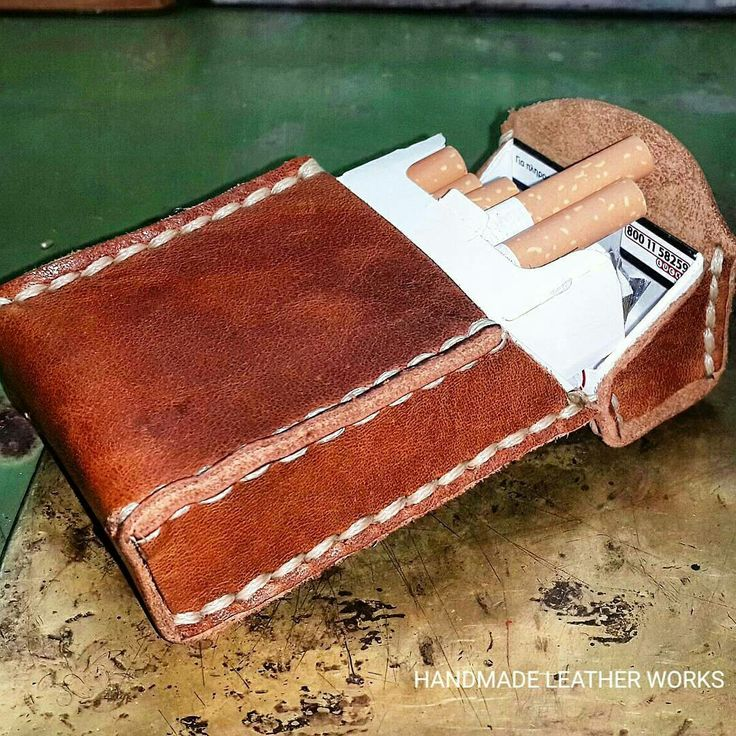 HANDMADE LEATHER WORKS LEATHER CIGARETTES CASE