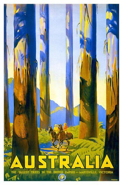 vintage travel poster :: Australia
