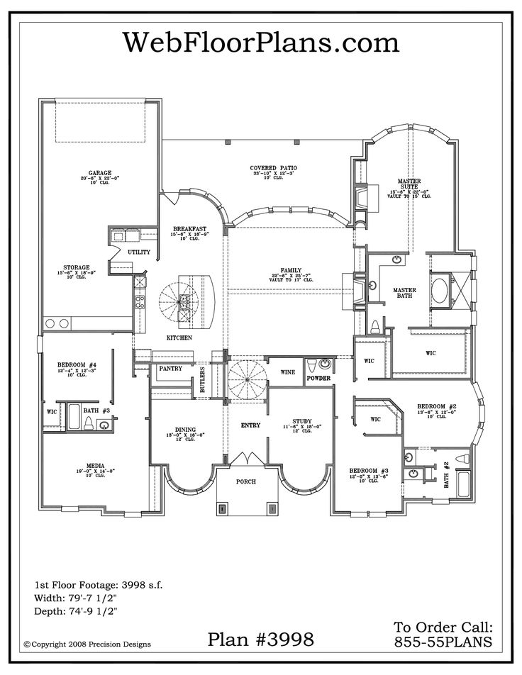 Nice Single Story Home Plans #1 One Story House Plans Part 39
