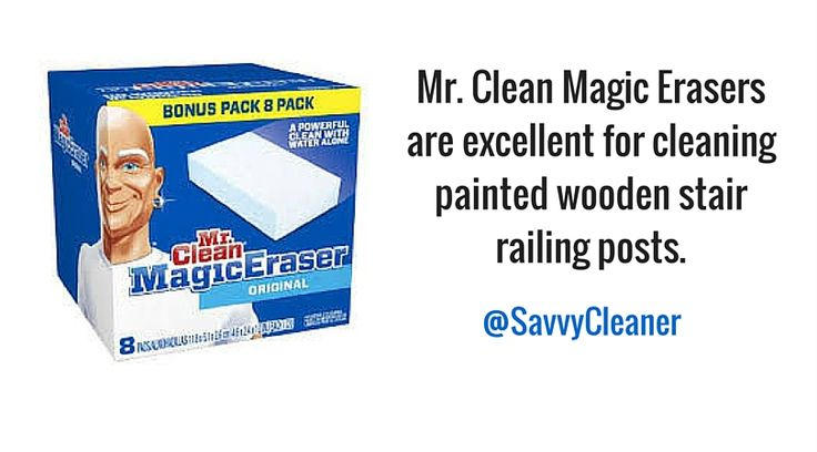 #Cleaningup painted stair railings with #MagicEraser #housecleaning #Cleaningtips #Cleaninghacks