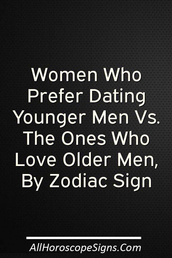 Dating an older man and a younger man
