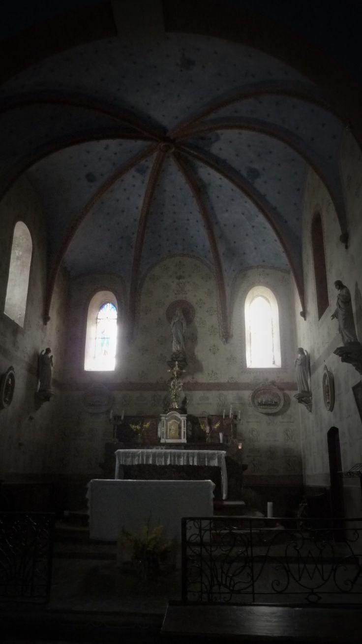 Inside the church of Bugarach. © Scarlett Amaris
