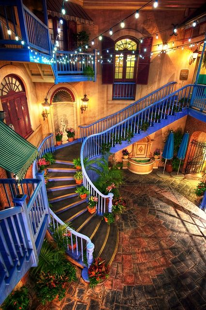 """new orleans square at Disneyland. This is behind the exit of Pirates of the Carribean and one of my favorite """"secret spots"""" at Disneyland."""