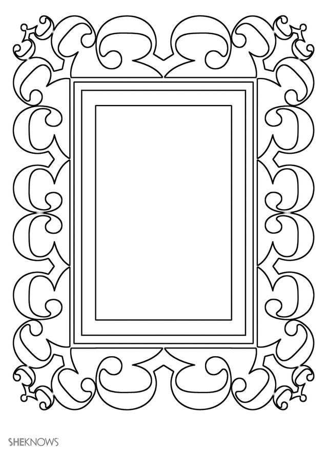 135 best bos coloring blank frames images on pinterest