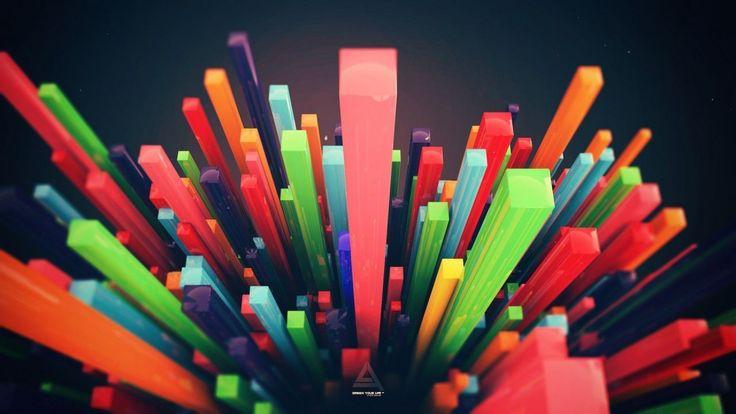 Abstract Pillars Of Creation Colorful Depth Field Digital Art