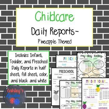 The 25+ best Preschool daily report ideas on Pinterest Preschool - daily report templates