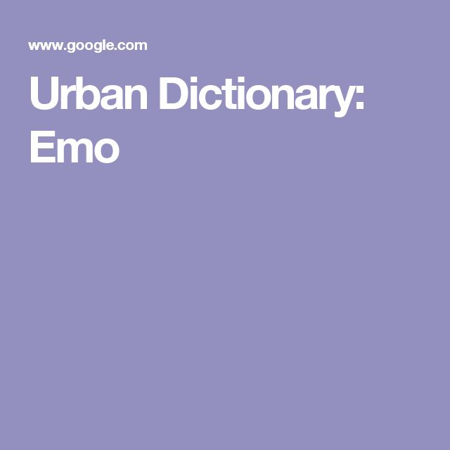 Urban Dictionary: Emo