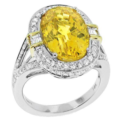 Spark Yellow Sapphire and Diamond Ring Creations Fine Jewelers, Napa, CA 707-252-8131 www.creationsfinejewelers.com