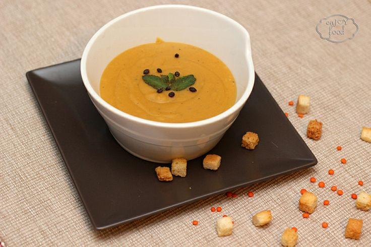 Lentil cream soup - Supa crema de linte rosie