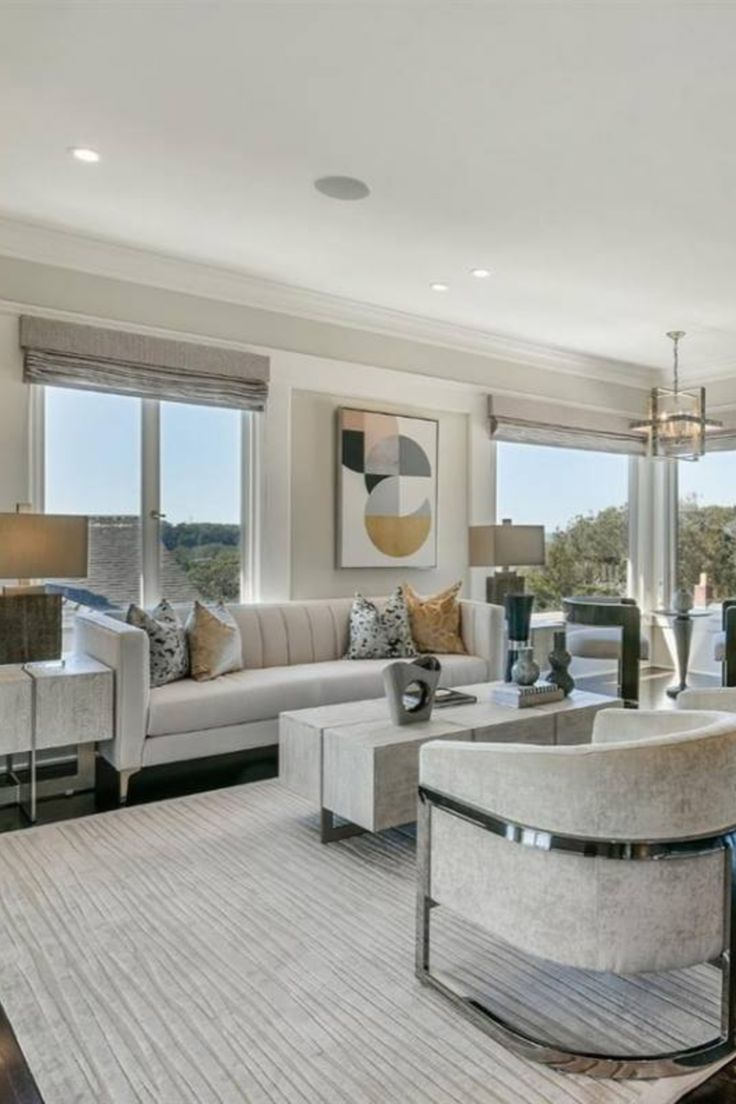 Room Redo Contemporary Living Room With White Furniture Modern Furniture Living Room Modern White Living Room Luxury Living Room