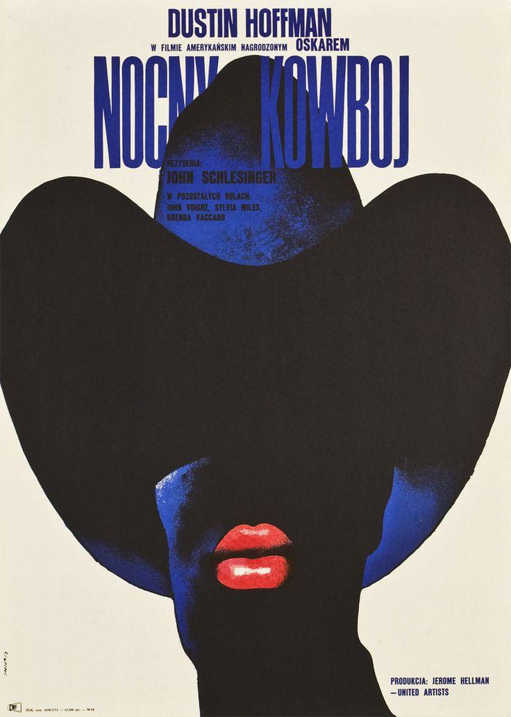 """Waldemar Świerzy, Plakat do filmu """"Nocny kowboj"""", 1973"""