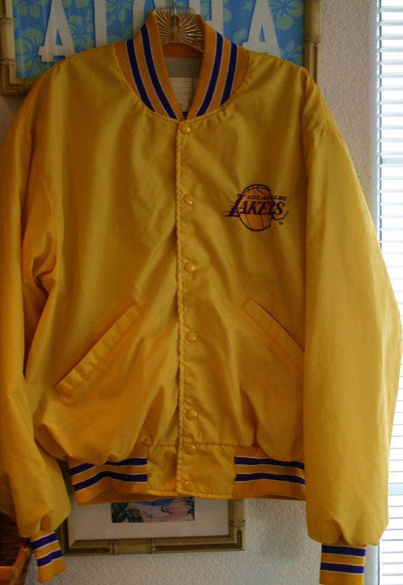 Vintage 70's Los Angeles Lakers Jacket Snap by DMVintageShowroom, $45.00