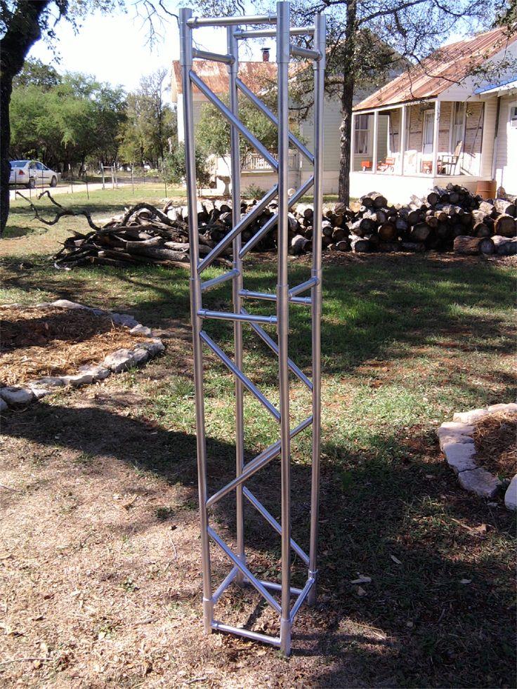 Fake Aluminum Truss Made From Pvc Piping Church