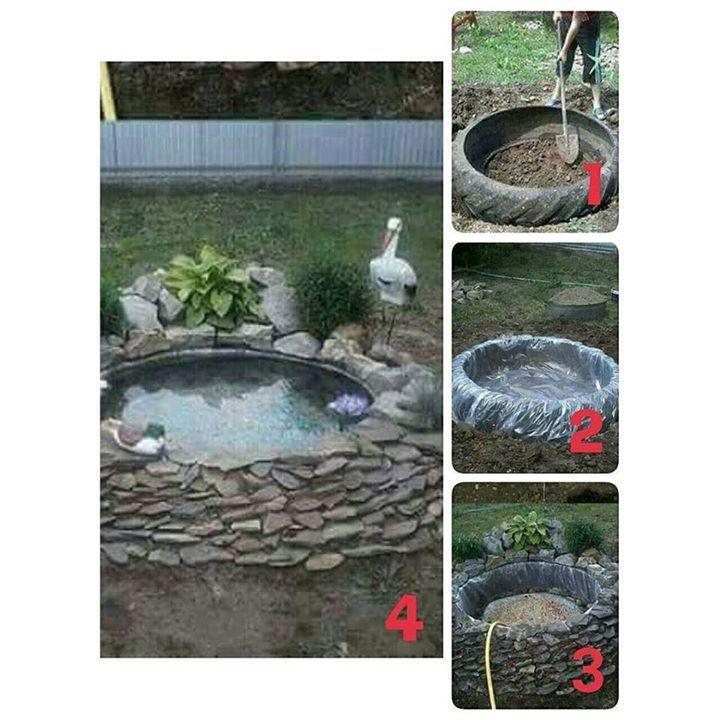 Ide membuat kolam..? Cukup mudah kan... #idekolam #kolamikan #banbekas #tamankecil #membuattaman #berkebun http://ift.tt/2n2TQyY