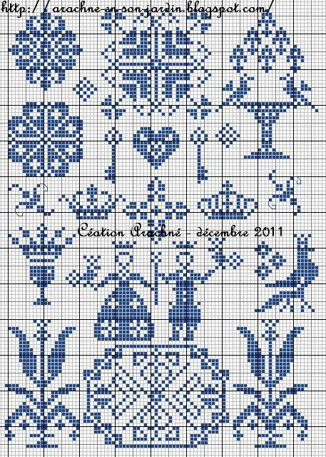 Toile royale chart - from Arachné en son jardin