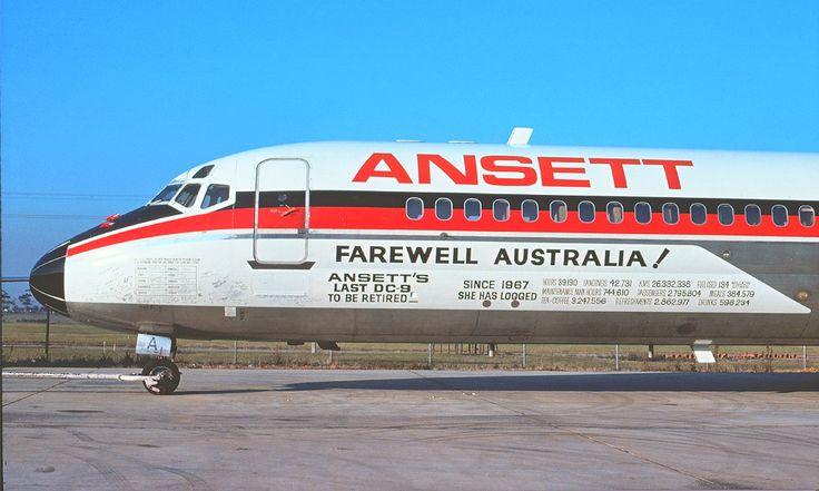 Ansett Douglas DC-9-31 (VH-CZA) farewell