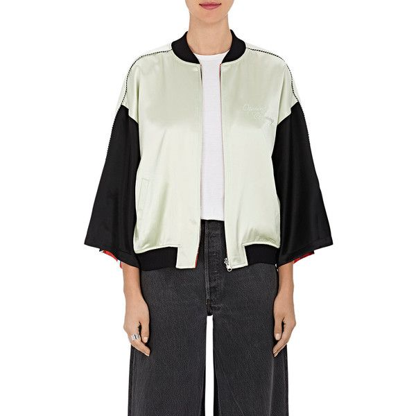 Opening Ceremony Women's Reversible Silk Kimono Bomber Jacket ($525) ❤ liked on Polyvore featuring outerwear, jackets, opening ceremony jacket, blouson jacket, bomber style jacket, print jacket and pattern jacket