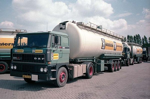DAF FT 3600 Ati 4x2 met bulktankoplegger van Hannink in Winterswijk