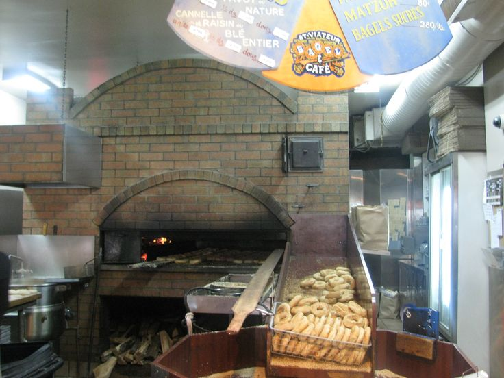 Montreal - The bagels at St. Viateur are well known for being hand-rolled and baked in a wood-burning oven.