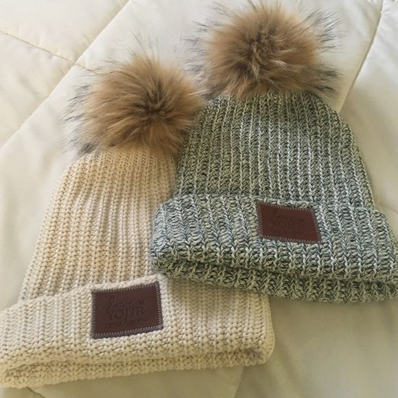 Love Your Melon Pom Beanies Both new. Will separate. They don't come with tags on them. Love Your Melon Accessories Hats