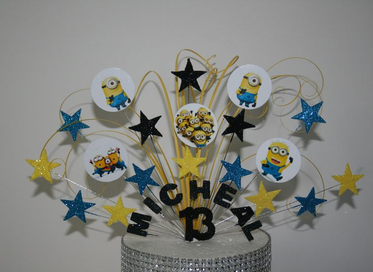 0050 Birthday Cake Decoration Minions Cake Topper Glittered Any Age, Any Colour/Colours, Cake Decoration, Cake Spary 18th 21st 30th 40th by perfectcaketoppers on Etsy