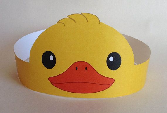 Duck Paper Crown Printable di PutACrownOnIt su Etsy