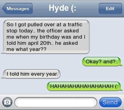 I got pulled over!