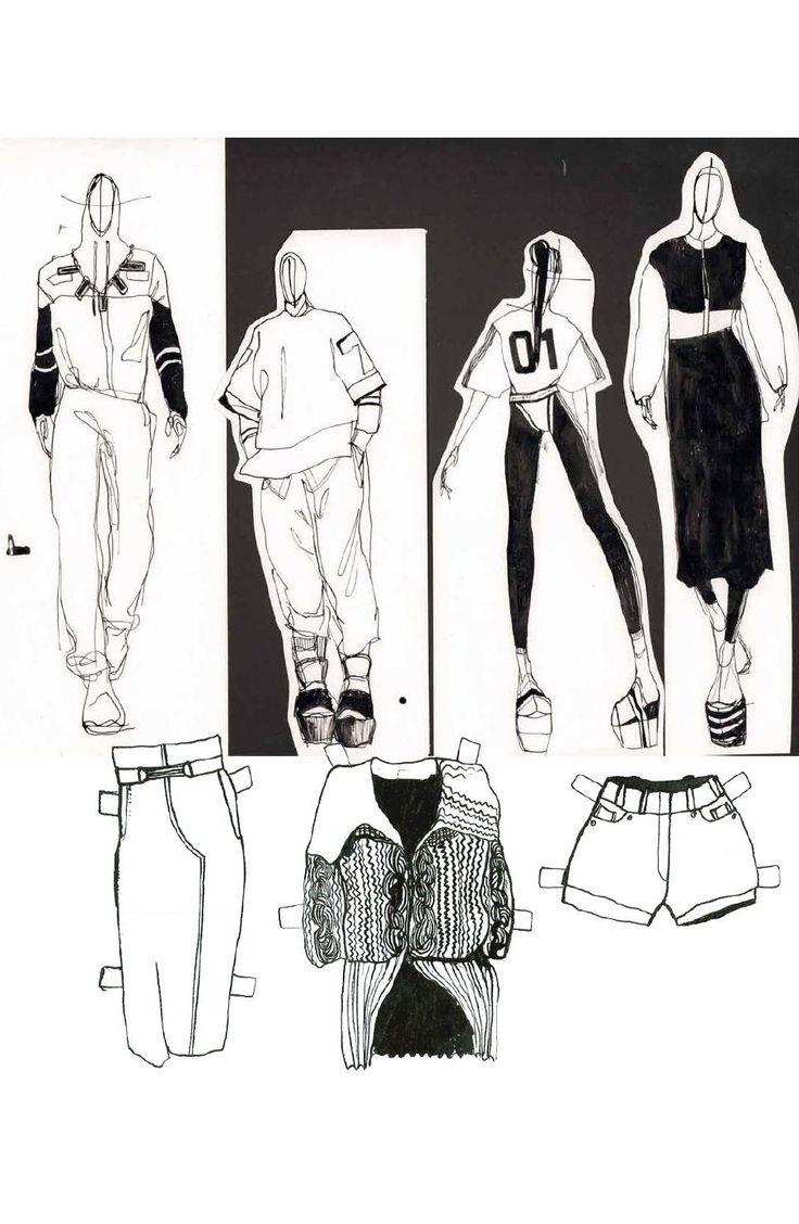 Fashion Sketchbook - fashion drawings; fashion design process; fashion portfolio // Mia Jadrna