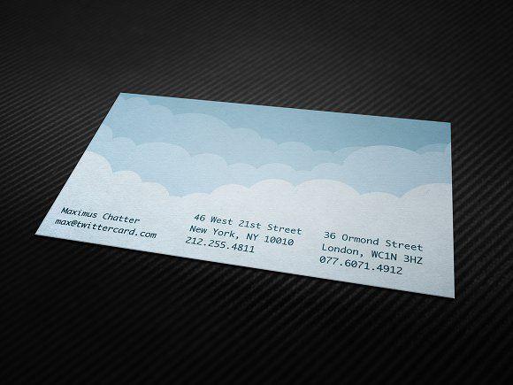 Digital Cloud Business Card Business Cards Creative Templates Minimalist Business Cards Business Card Template Design