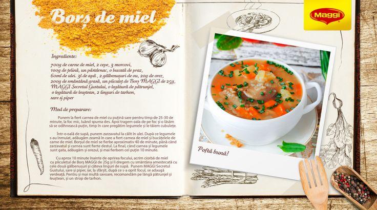 Lamb Soup // Bors de miel ca la MAGGI acasa Afla si mai multe retete savuroase de Paste pe https://www.maggi.ro/retete