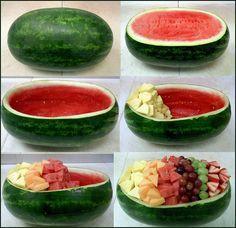 Faça Você Mesmo - Salada de frutas dentro da melancia