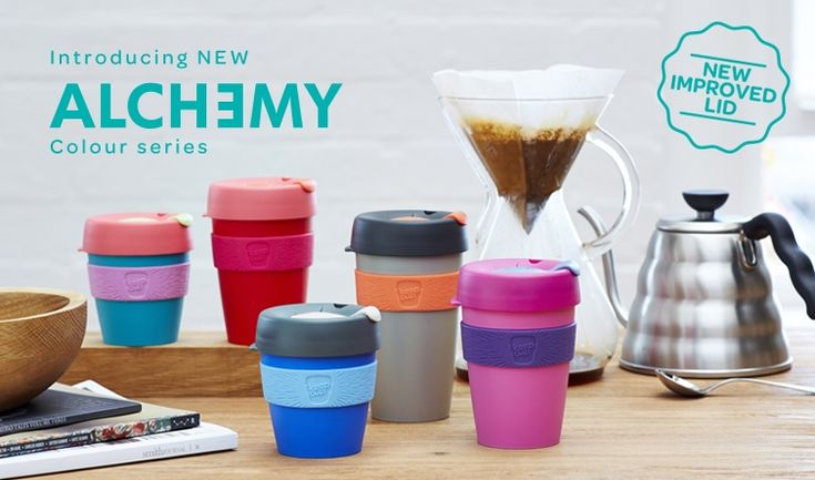The KeepCup (reuseable coffee cup w/lid), comes in various sizes (6 oz. to 16 oz.) and can design own color combo at no additional cost. Decent price...around $15.  Shipping to US about $6 for 1, about $7.50 for 2