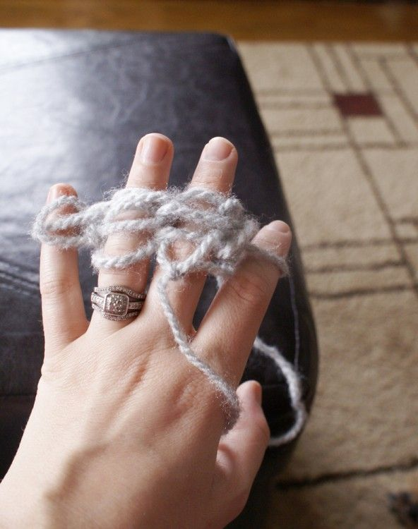 Finger Knitting Tutorial; so awesome.  Now I know how to crochet (single row) and knit only using my fingers.