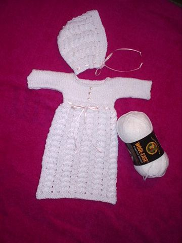 Hearts Of Gold Preemie Knits Burial Gown And Cap