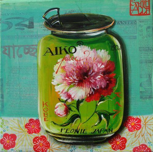 Peintures Fleurs (3/13): Tags, Sophie Adde, Jars Paintings, Sophie, Add Collage, Posts, Jar Painting, Food Illustrations, Decoupage Prints