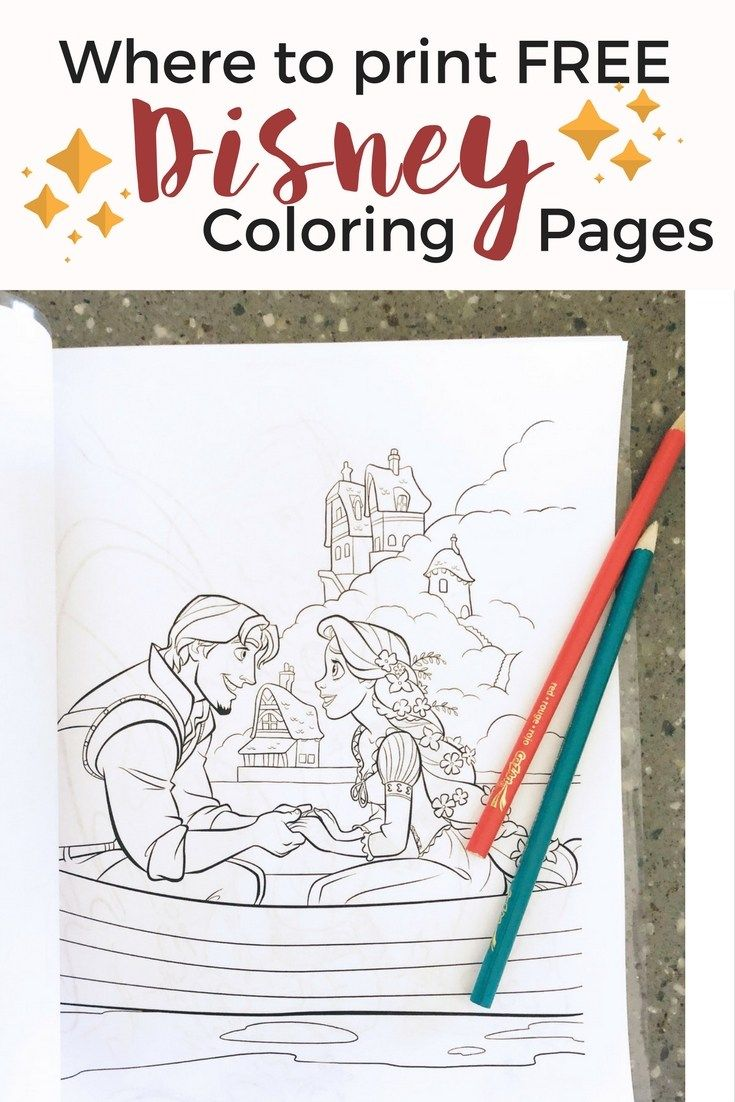 Disney Princess Coloring Pages Print FREE
