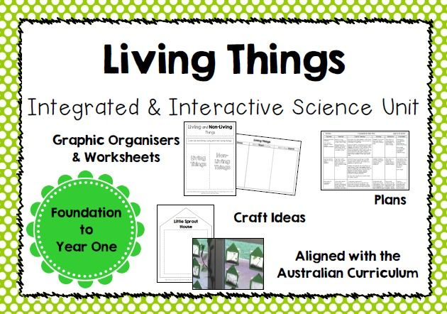 Integrated and Interactive Science Unit on Living Things for Years F/1/2