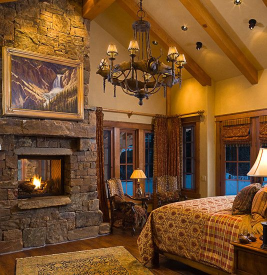 Elegant Ranch House Architecture With Rustic Atmosphere Amazing Vinatge Bedroom With Stone