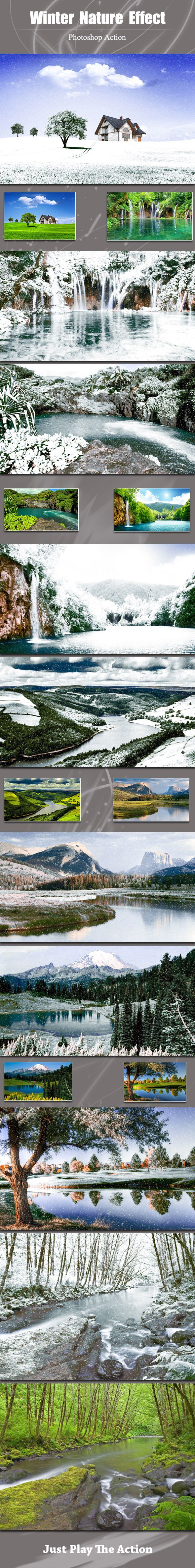 Winter Nature Photo Effect Photoshop Action