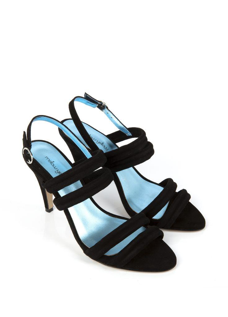 Sandale à talon VEONI Noir - SOLDES