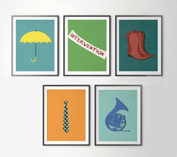 """HIMYM Symbols Posters   Community Post: 20 """"How I Met Your Mother"""" Etsy Finds That Are Legendary"""
