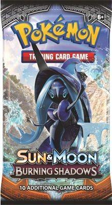 Bereid je Pokemon kaartenverzameling uit met deze Pokemon SM3 sun & Moon Burning Shadows boosterpack. Dit pakje bevat 10 kaarten uit de Pokemon Sun & Moon serie.   Afmeting: 120x5x65 mm - Pokemon booster SM3: Sun & Moon Burning Shadows