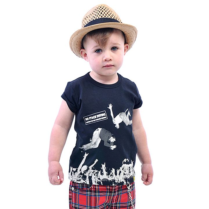Rock it in the Mosh Pit - Mosh Pit tee, Sk8 Shorts in Tartan, topped of with a Duke Straw Hat | Rock Your Kid summer 14 / 15 |